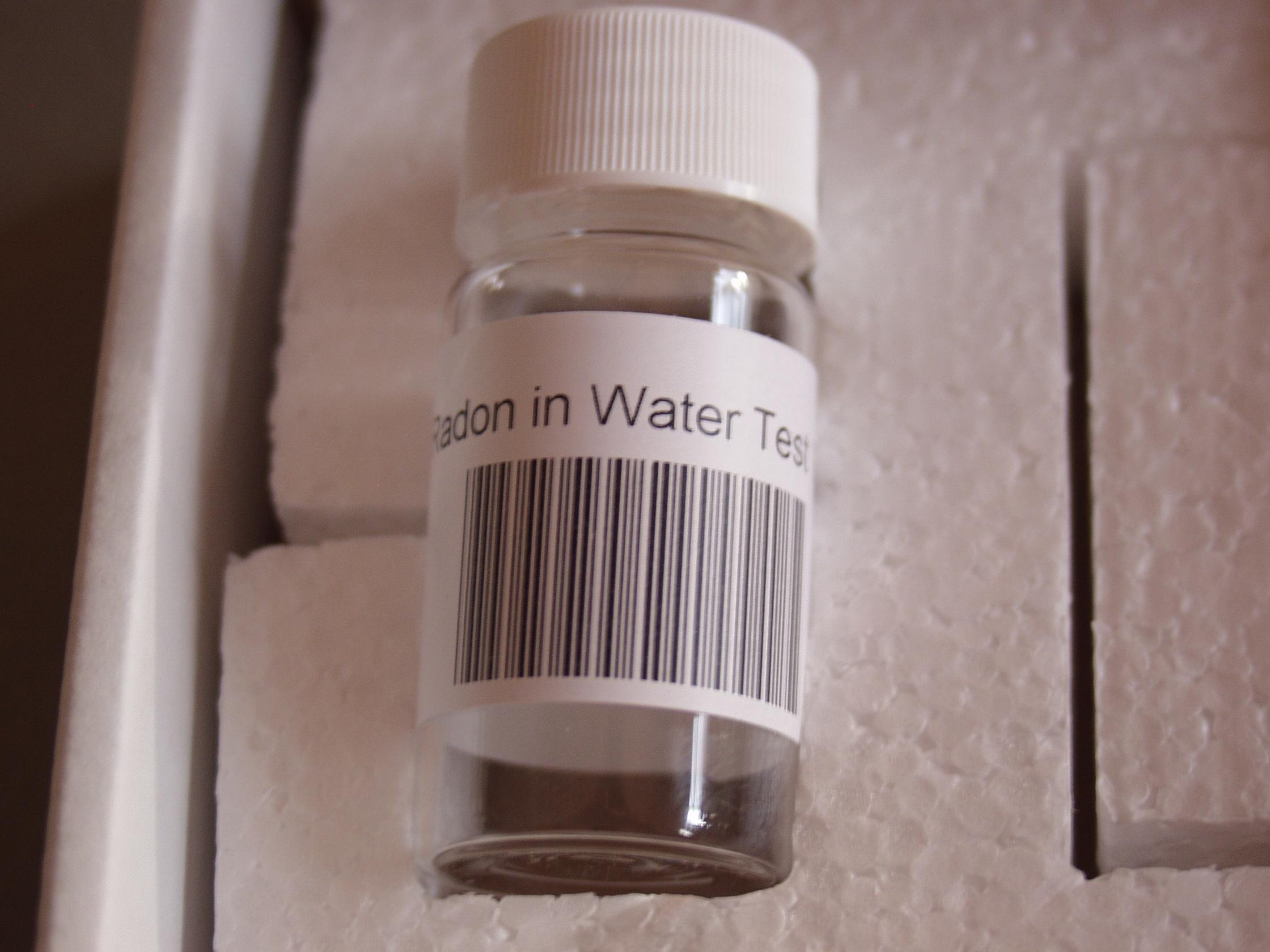 Testing for radon in water