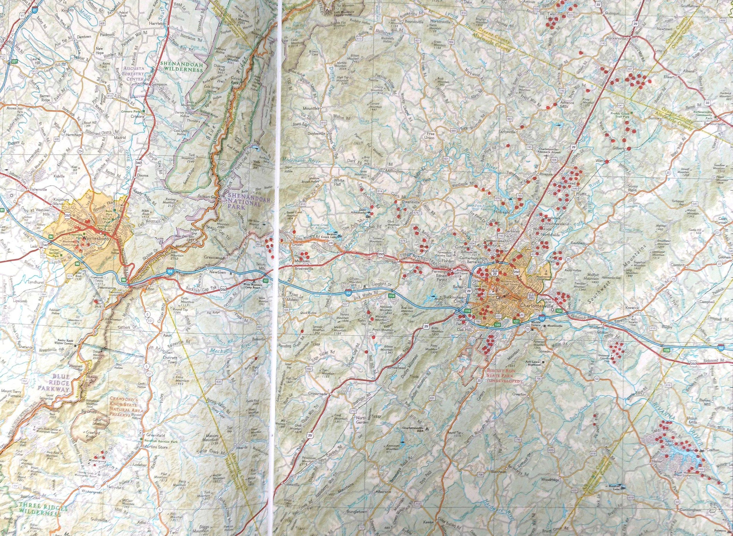 Charlottesville Radon Map