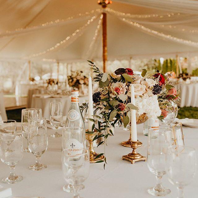 Twinkle lights ✔️ Candlesticks ✔️ Brass accents ✔️ Lush floral design ✔️⠀ .⠀ .⠀ All the right pieces for an airy, romantic setting!⠀ .⠀ .⠀ planning: @mksocialco photo: @rachelleinerphoto floral: @kinshipfloral⠀ .⠀ .⠀ #placesetting #setthetable #onthetable #dinnertable #floraldesign #florist #centerpiece #storybooklove #romantic #feminine #bridestyle #bostonbrides #newenglandbride #weddingstyle #weddinginspo #weddingdetails #weddingphotography #weddingplanner #destinationweddingplaner