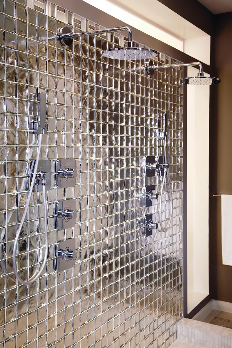 Silver Bathroom Scene