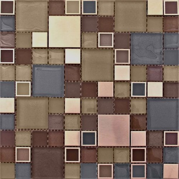 #Throwback to the Cubix collection, a dynamic & refined blend of glass and metal in soothing colors and textures. Pictured here is Cubix 2 in Merino.