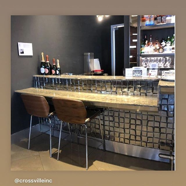 Beautiful bar installation our exclusively designed product Sideview for @crossvilleinc