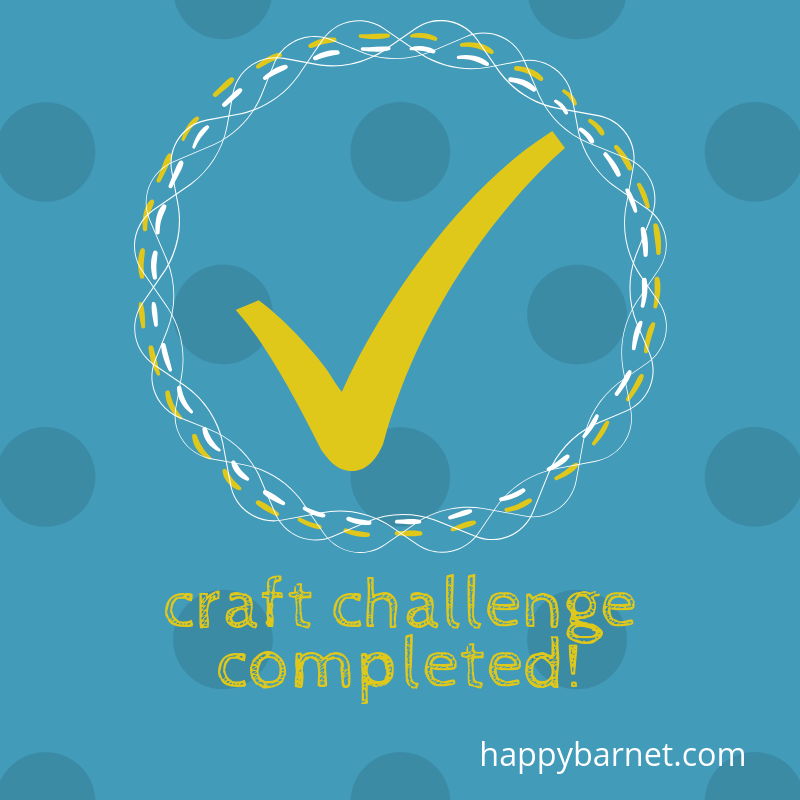 craft challenge completed
