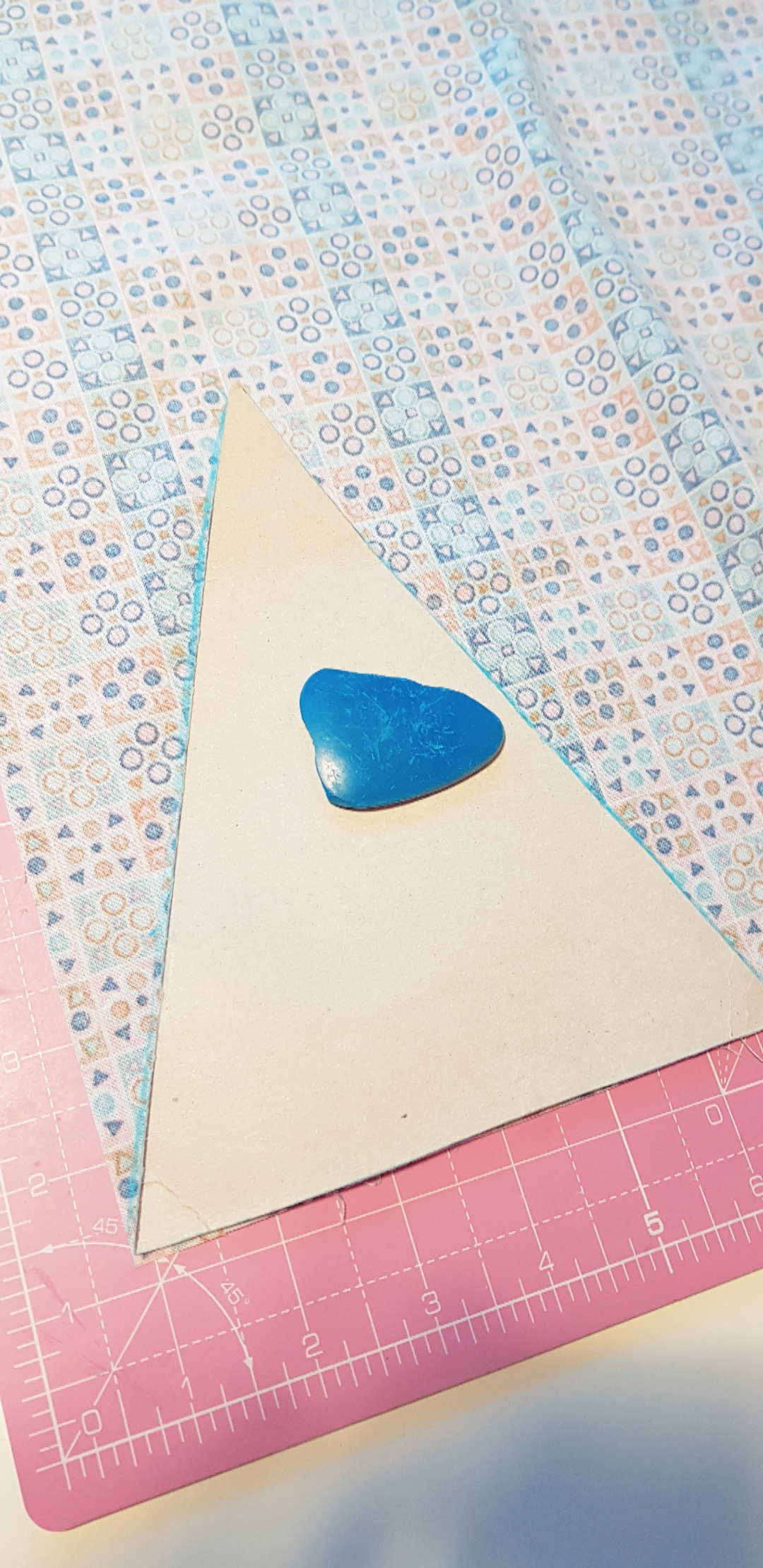 Step 1: Cut out triangles