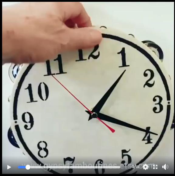 Lynda's Tmbourine Clock