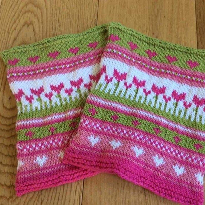 Pam's Norweigan style knitting
