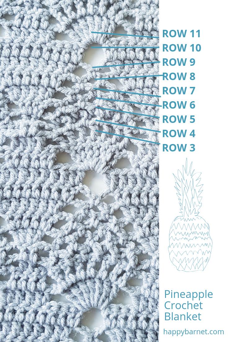 crochet pineapple pattern