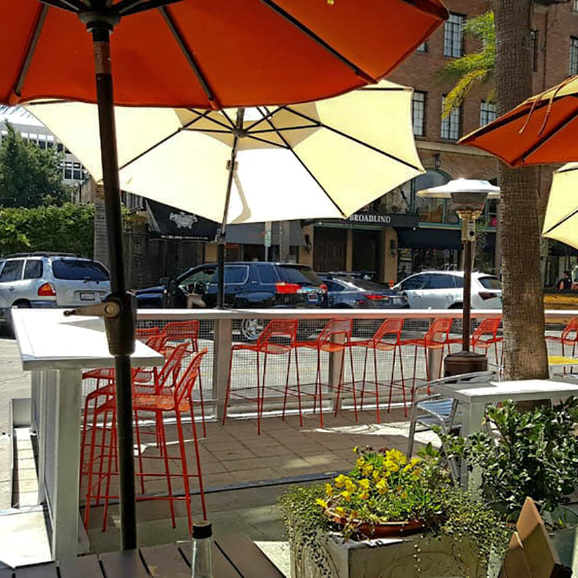 "District Wine's Parklet. Photo by: Ben ""Benzo"" H."