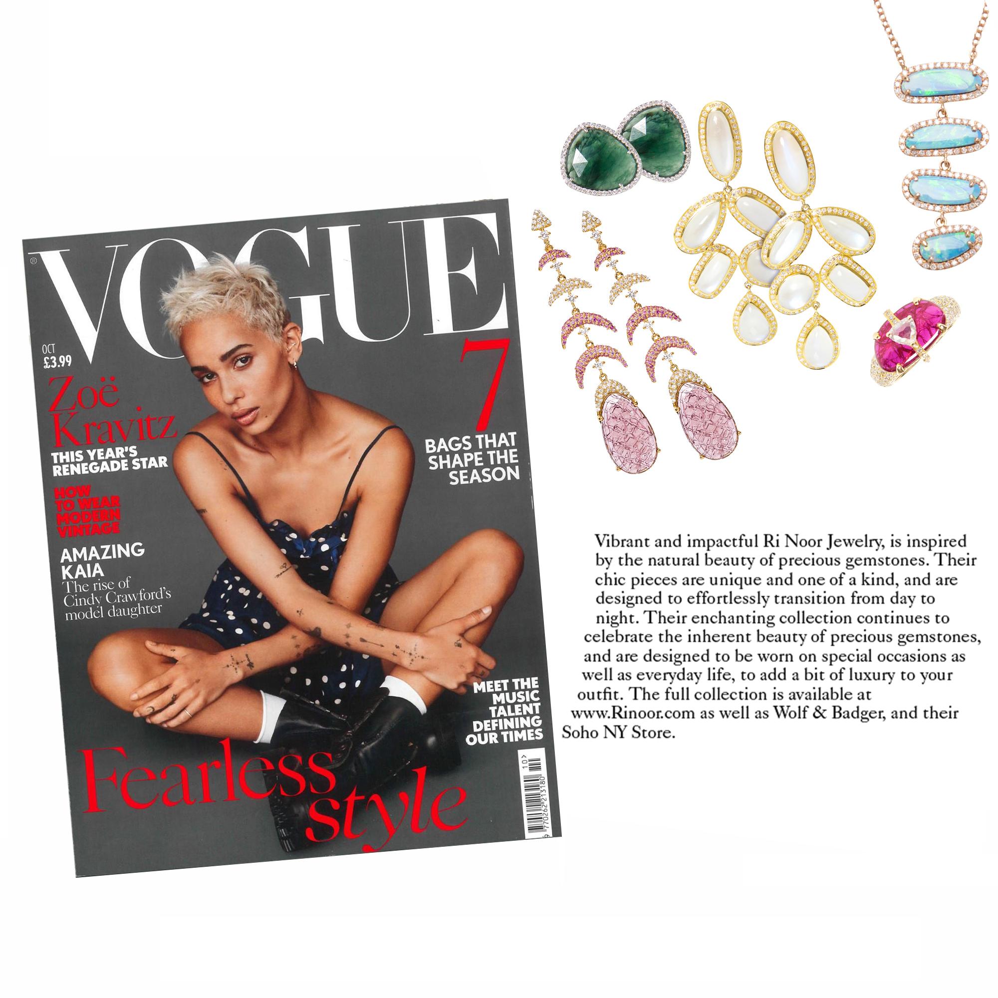 Vogue UK, October 2017