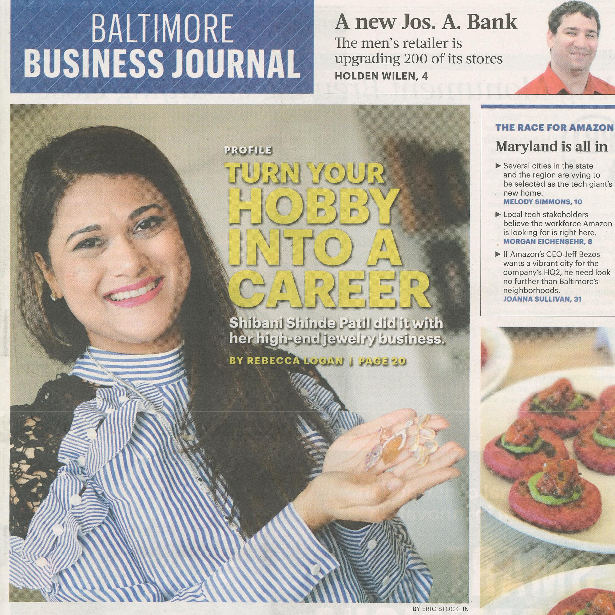 Baltimore Business Journal, September 15-21, 2017