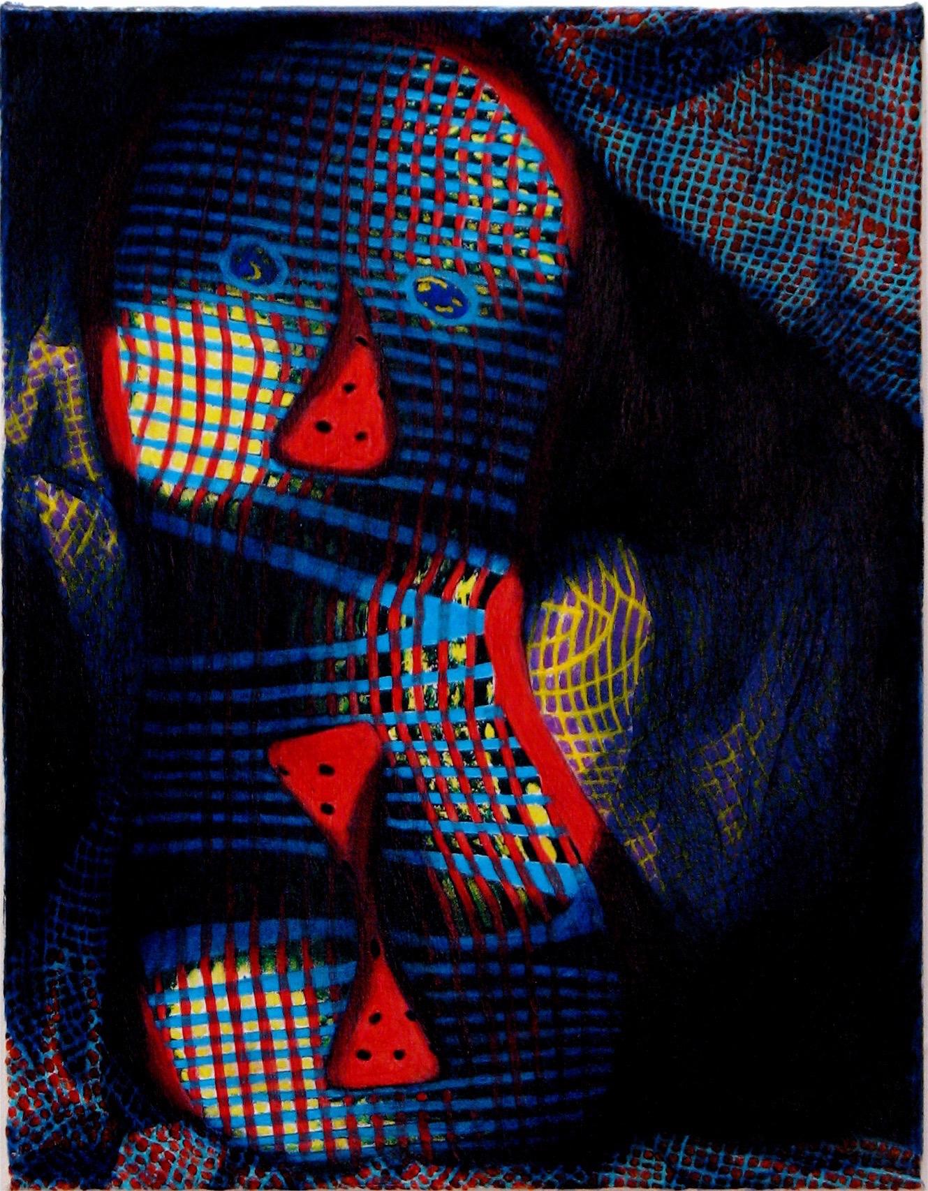 Grid Head Triple Red