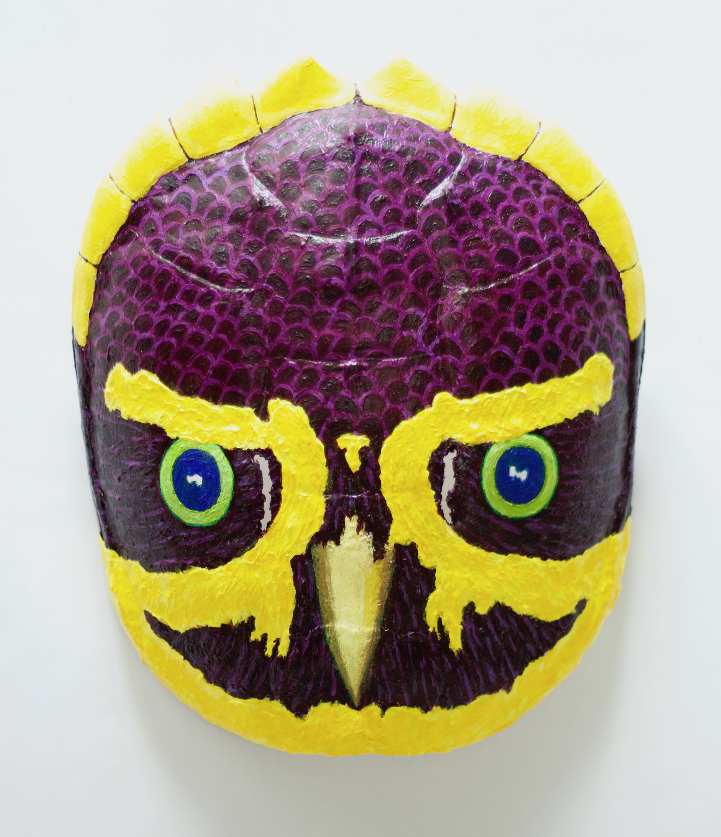 Yellow Violet Turtle Owl Mask