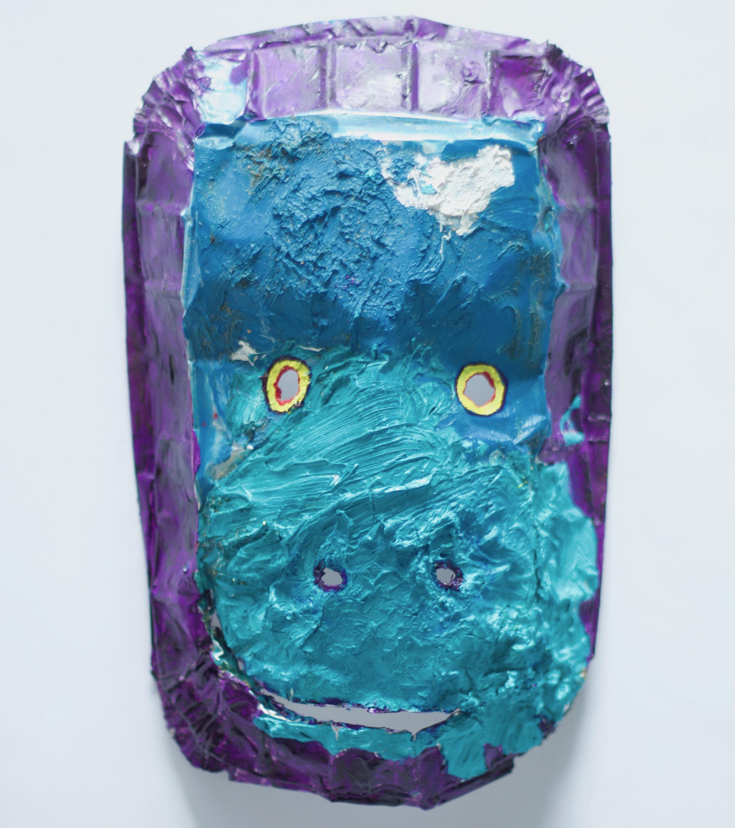 Painters Palette Blue Gorilla Mask