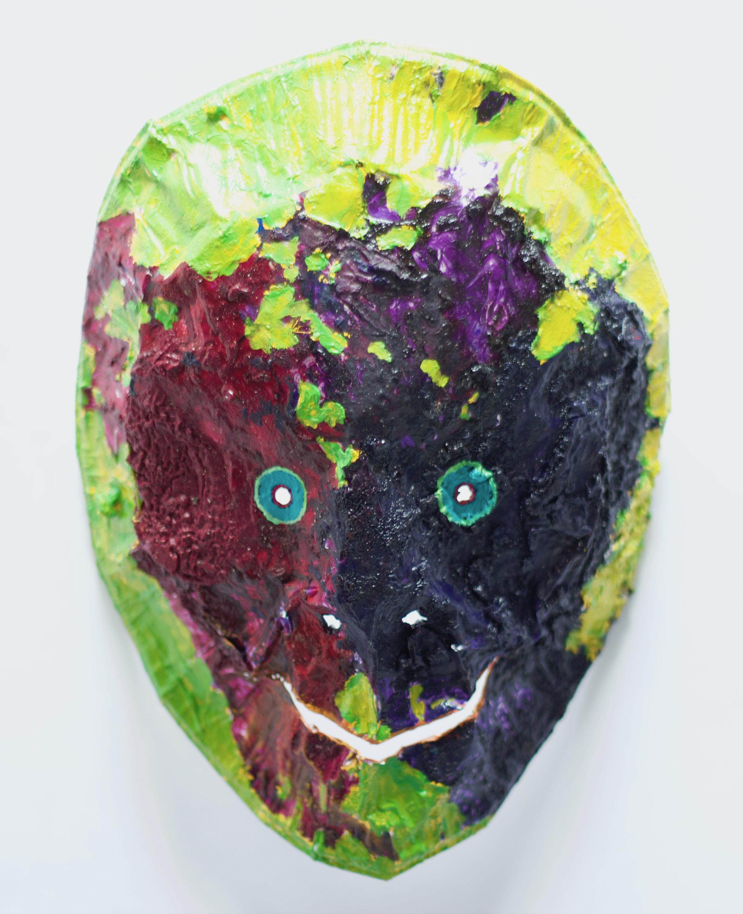 Painters Palette Smiling Zombie Mask 2