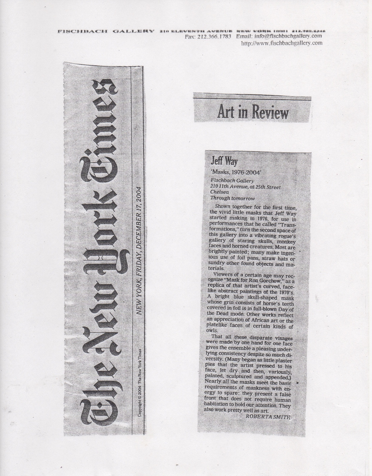 Art in Review, Smith Roberta, New York Times, 2004