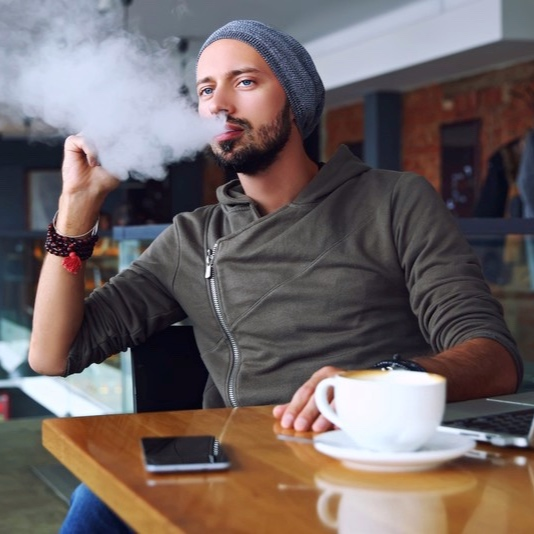 :15 PRE-ROLL - Open on a man chatting at a coffee shop. He's rambling about his start up and all of his connections and all of the funding he has received and what kind of computer he has and ripping fat clouds and…TECH BRO: I HAVE MY OWN BUSINESS. YEAH, I'M AN ENTREPRENEUR. I JUST GOT MY FIRST INVESTOR WHO INTRODUCED ME TO OTHER POTENTIAL INVESTORS, SO THINGS ARE LOOKING PRETTY POSITIVE. THAT FIRST INVESTOR IS KEY, LUCKILY MY MOM—I MEAN, MY INVESTOR—REALLY BELIEVES IN MY BUSINESS MODEL. THAT'S NOT SOMETHING ALL ENTREPRENEURS CAN SAY, SO I FEEL SUPER OPTIMISTIC ABOUT THE FUTURE OF MY COMPANY…OH A PROTOTYPE? NO, WE'RE—I'M—STILL IN THE EARLY STAGES…Rambling continues and fades as VO enters.VO: IT'S NOT POLITE TO FLEX.Cut to app demonstration.VO: MIND YOUR BUSINESS WITH CASH APP