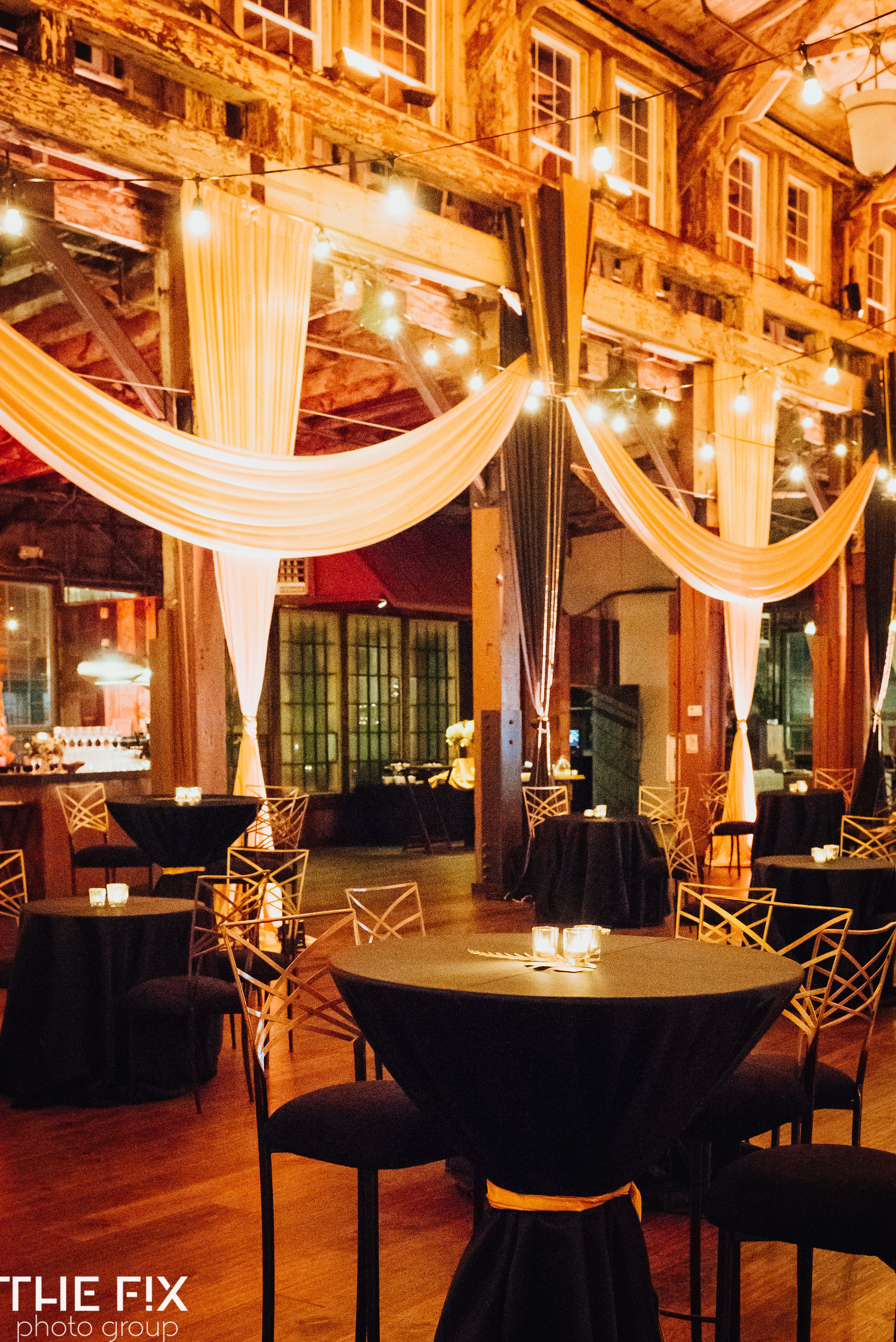 Indoor decor ideas for Corporate holiday party entertainment at Herban Feast , photographed by the Fix Photo Group