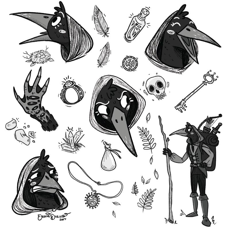 Branwen Murder Bird Sketches