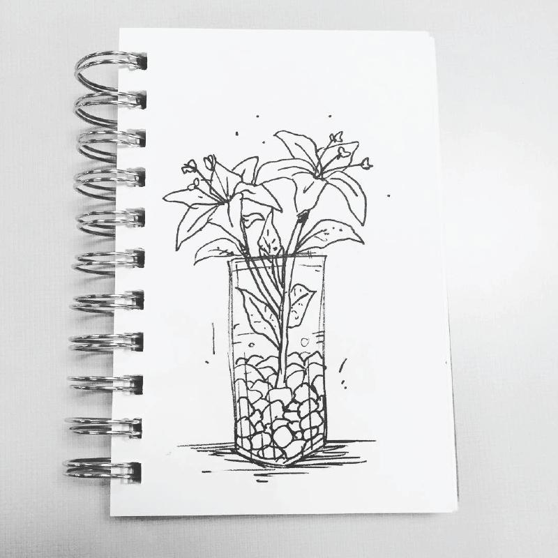 Flowers - Mini Sketchbook