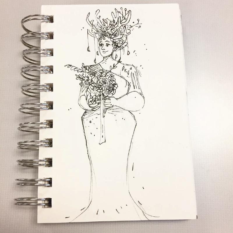 Megan's Wedding Doodle
