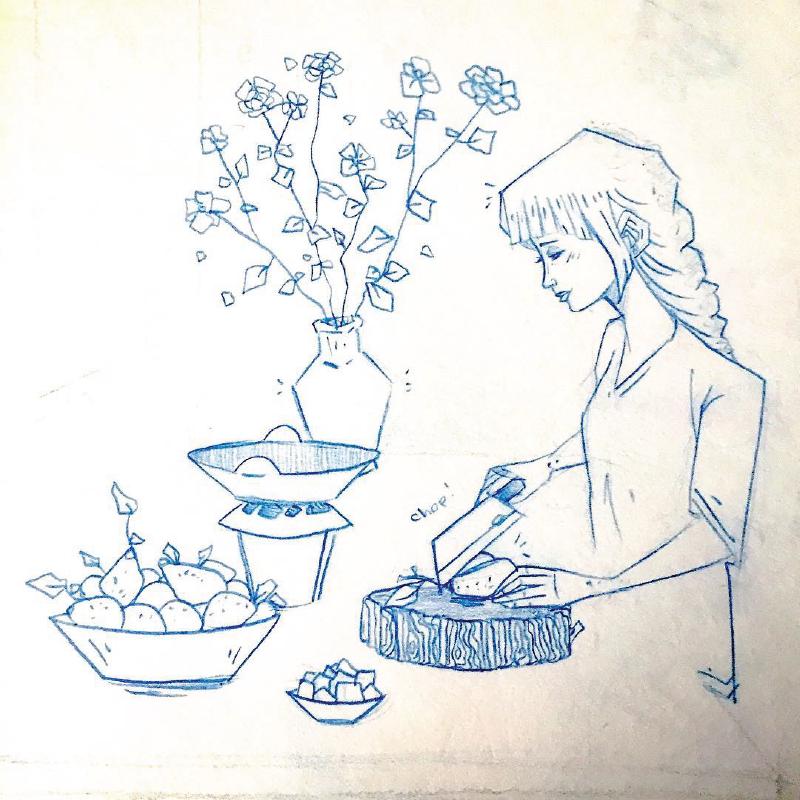 Japanese Meal Prep Sketch