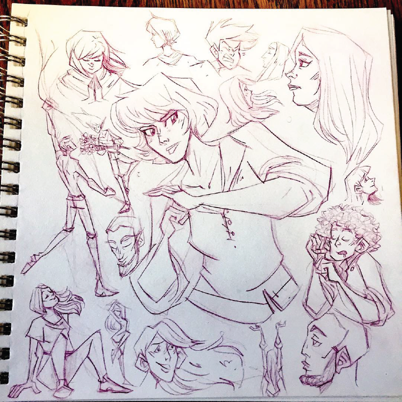 Lots of Faces Doodles
