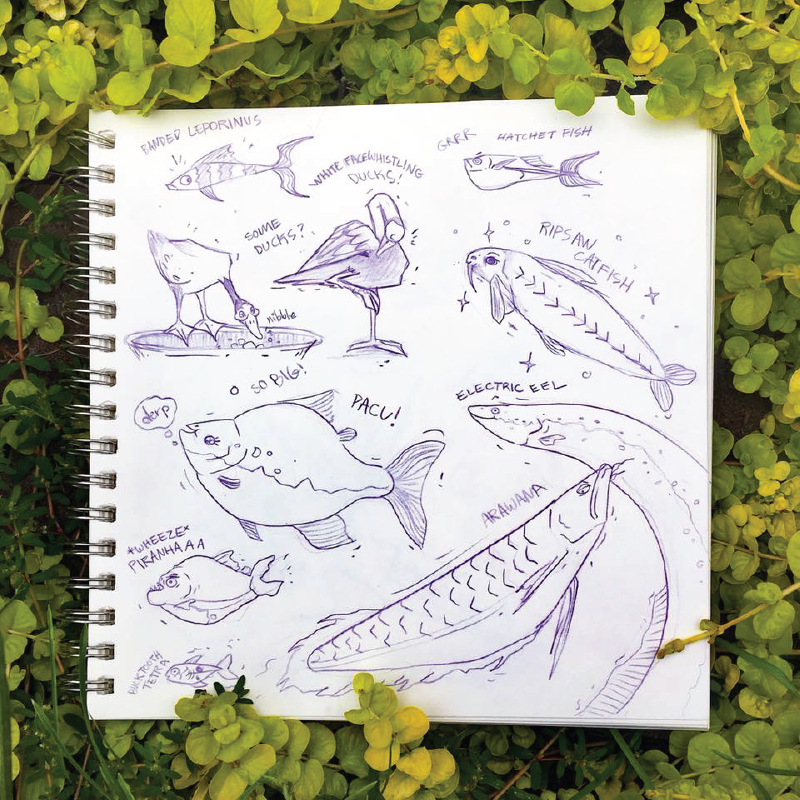 Aquarium Doodles 1