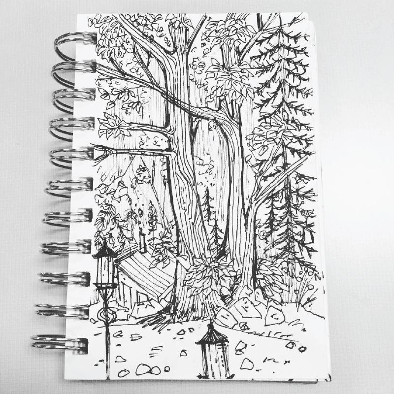 Forest Wedding Sketch