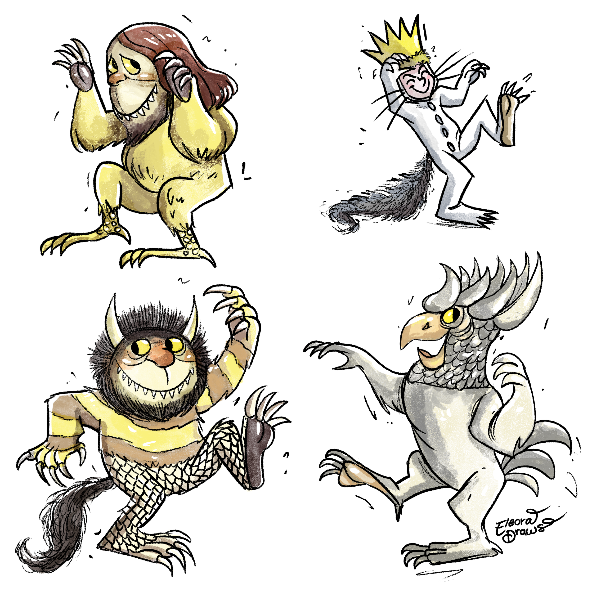 Where the Wild Things Are Pattern no bg.png