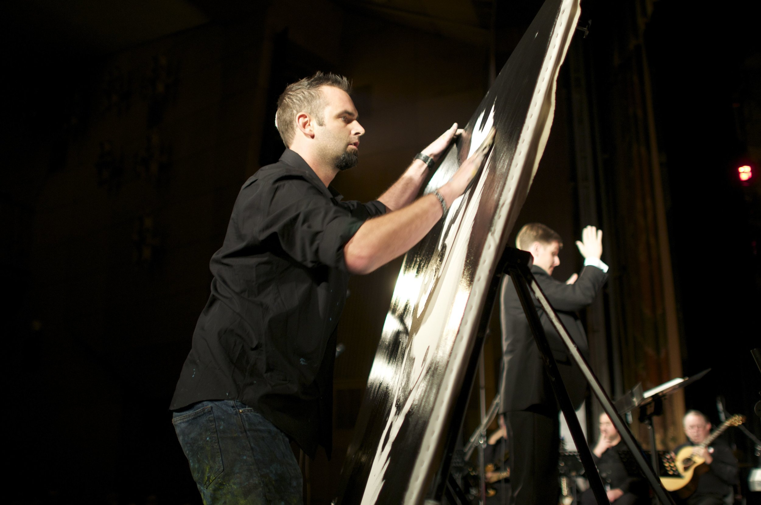 Auction speed painter for fundraiser and gala