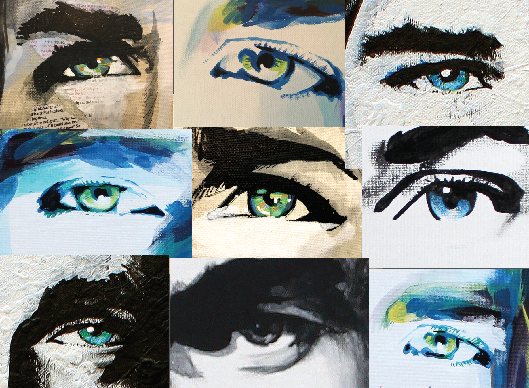 Christ's Eyes Painting