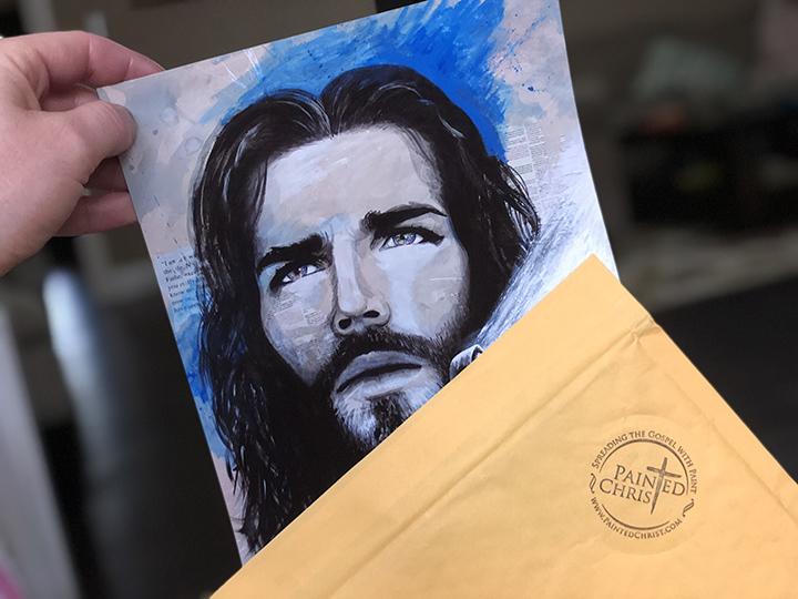 Giving Away Modern Paintings of Jesus