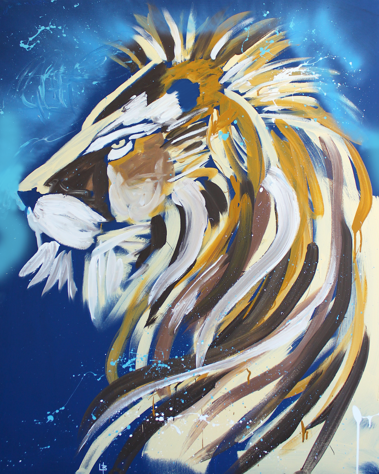 Lion Speed Painting