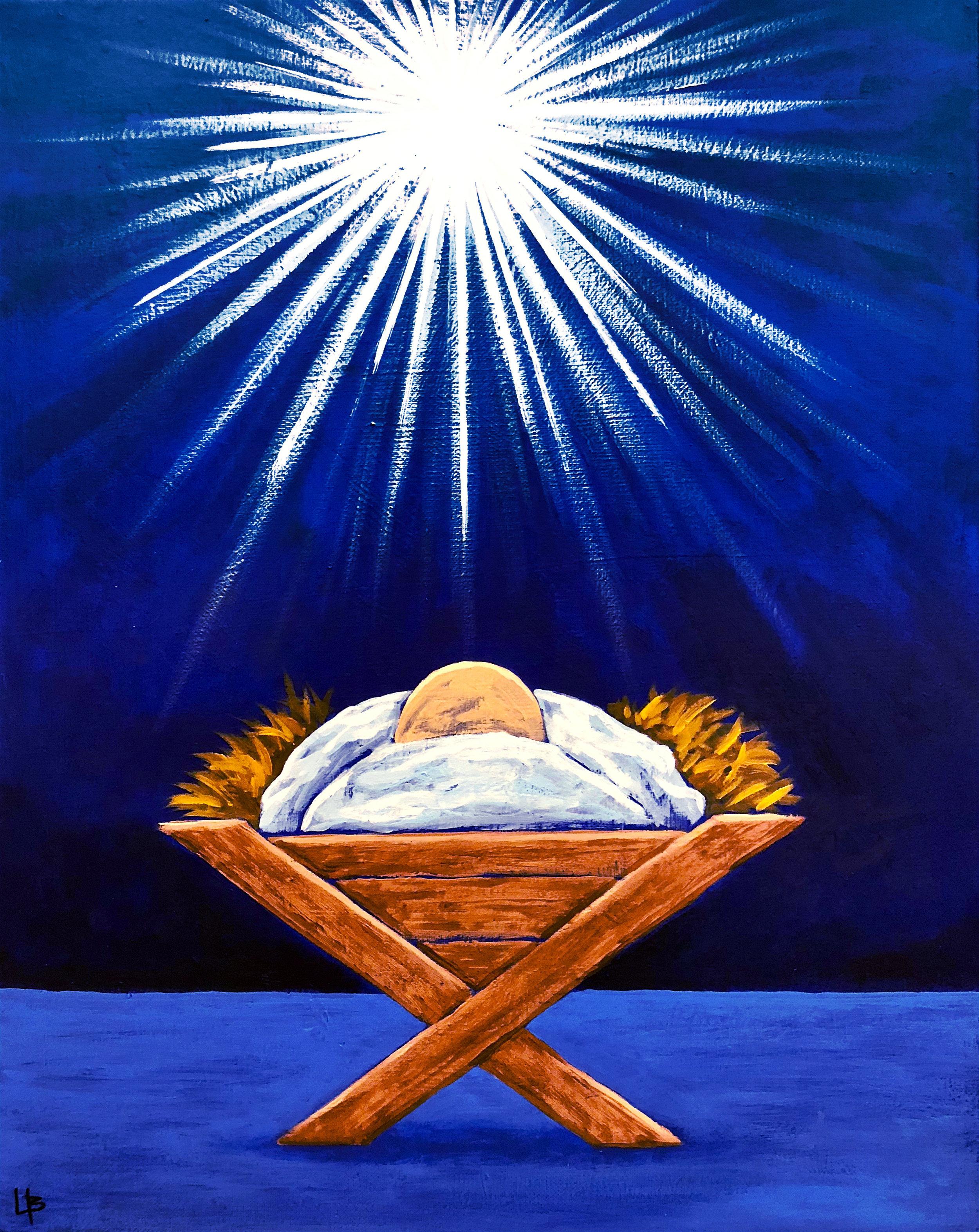 Christmas manger baby jesus christ north star