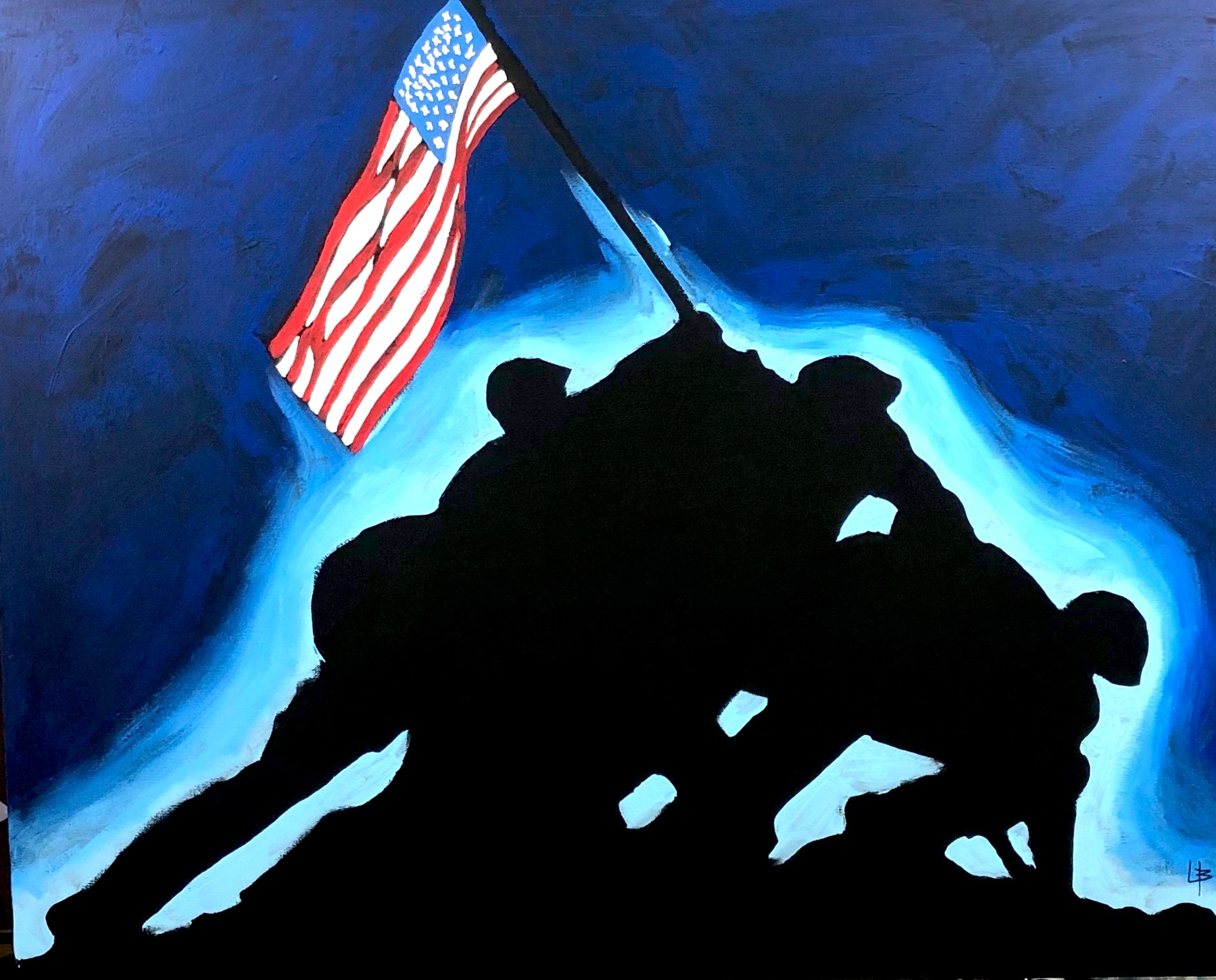Victory-flag-raise-iwo-jima-soldiers