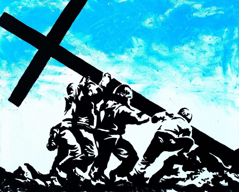 Reclaim Cross Iwo Jima Painting.jpg