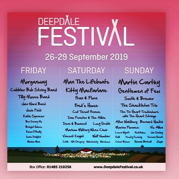 We are playing on Saturday at the @deepdalefarm #deepdalefestival See you there. We are on at 2:15 so make sure to come say hello 😎 #livemusic #instrumental #soundtrack #wolfnumber #thewolfnumber