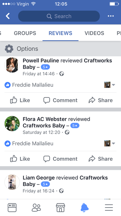 Support on Facebook and social media Craftworks Baby