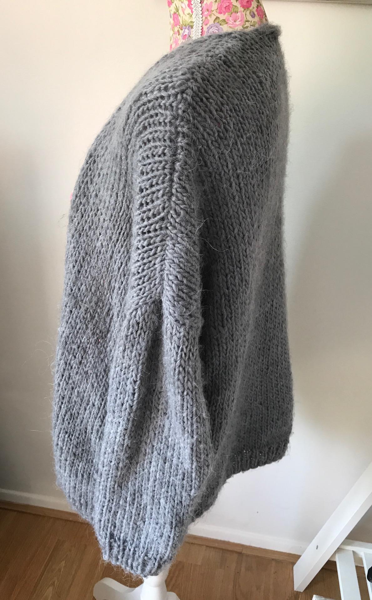 grey cardigan handmade