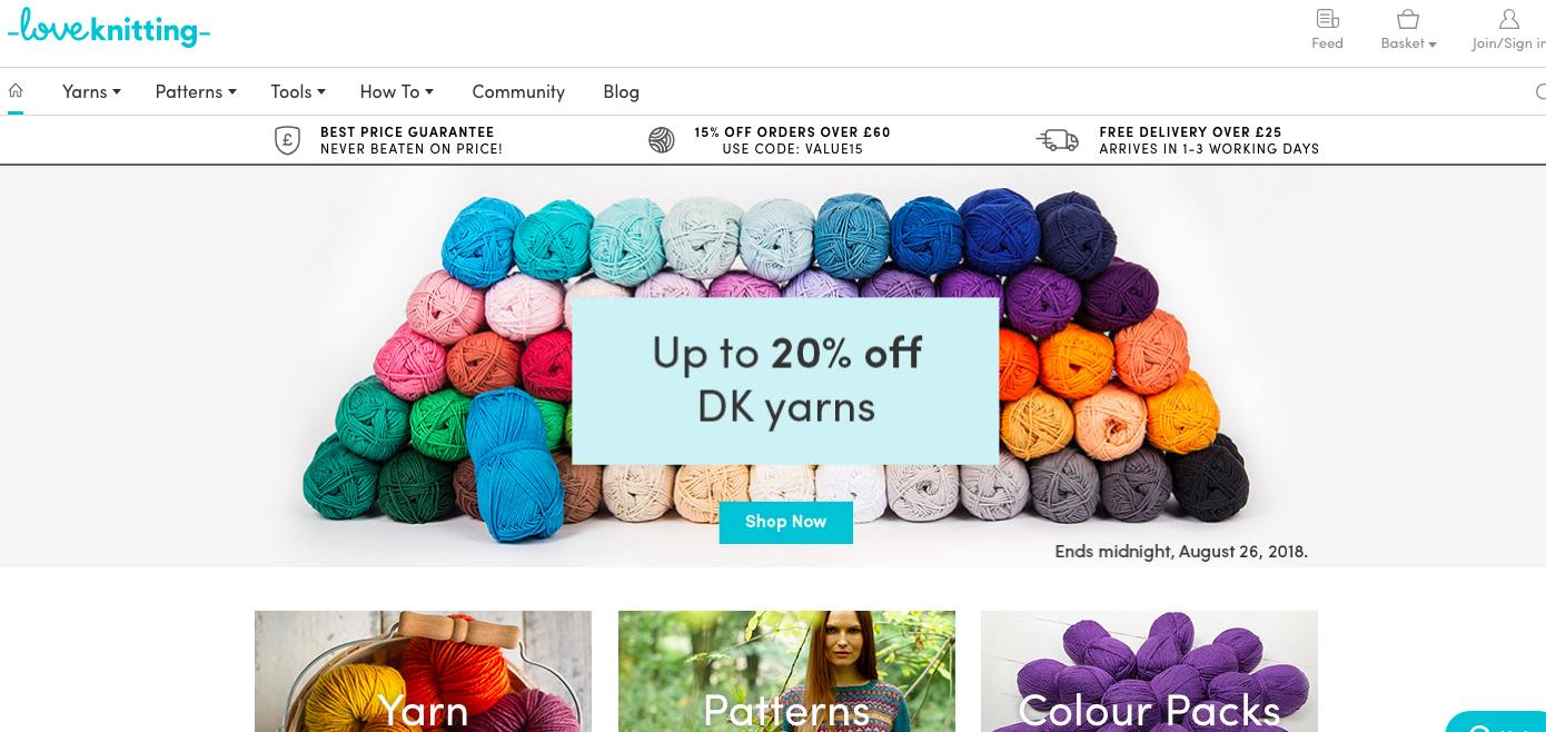 online yarn shop