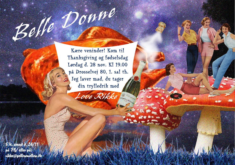 Birthday card: Belle Donne