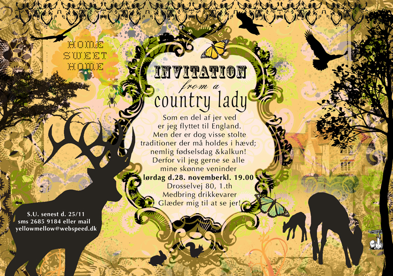 Birthday card: Country Lady