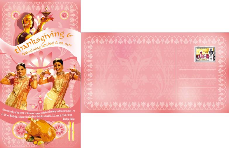 Birthday card: Bollywood