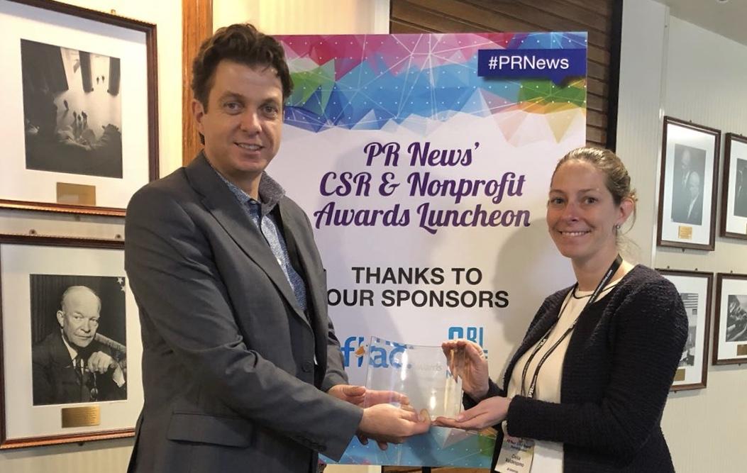 Jose Caceres (CSR and Communications, SAP Latin America & Caribbean) and Celia Deitz Valdespino (Development Director, JA Americas)
