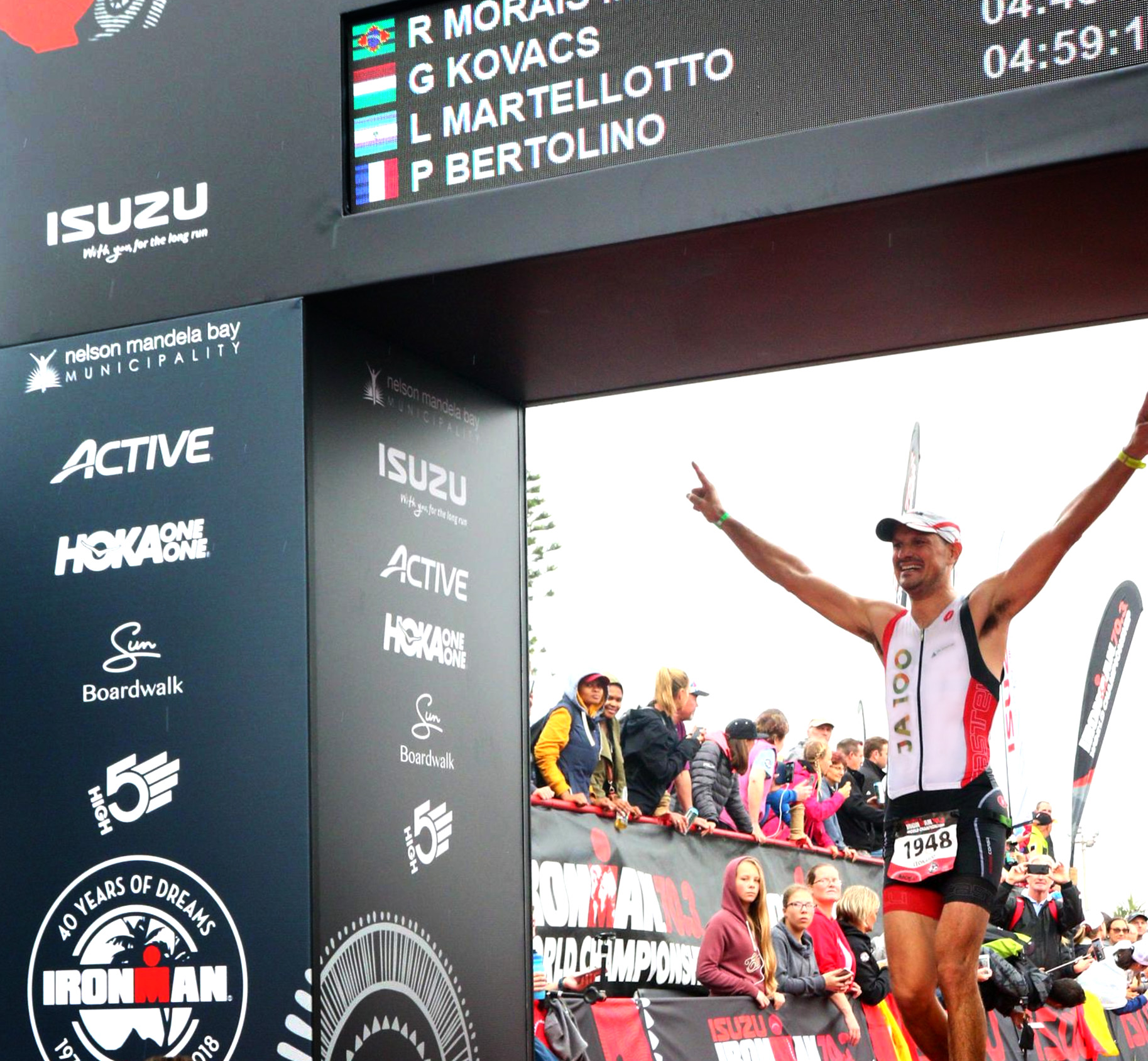 Completing my second Ironman 70.3 World Championship in Nelson Mandela Bay (South Africa)