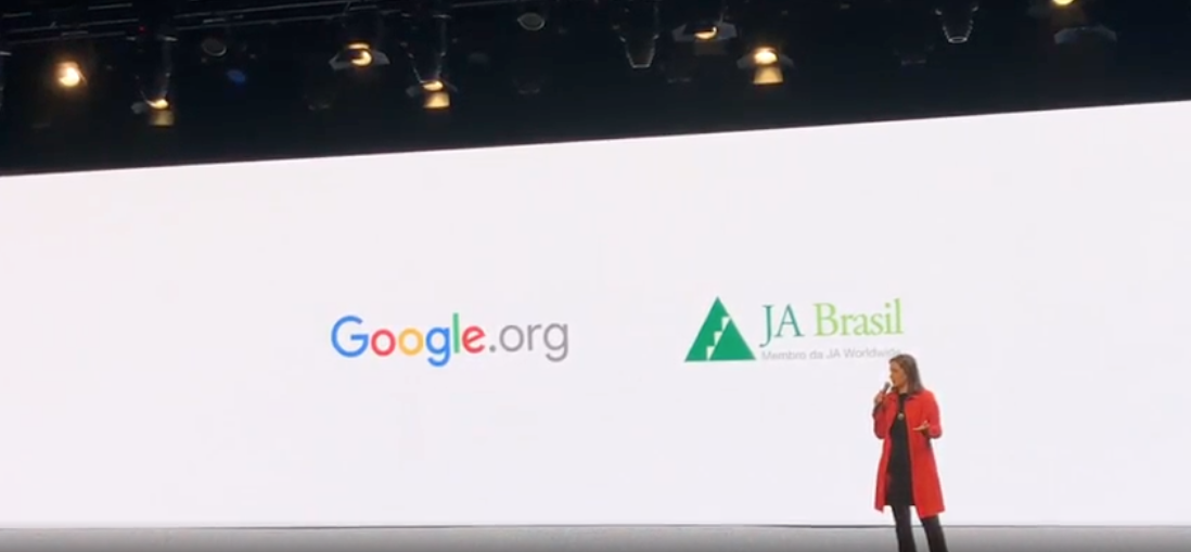 Bety Tichauer, JA Brazil´s Executive Director, presenting during Google event.