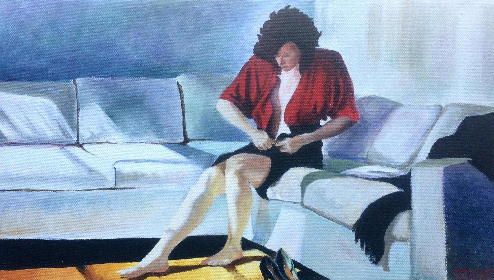 Copy work Acrylic on canvas