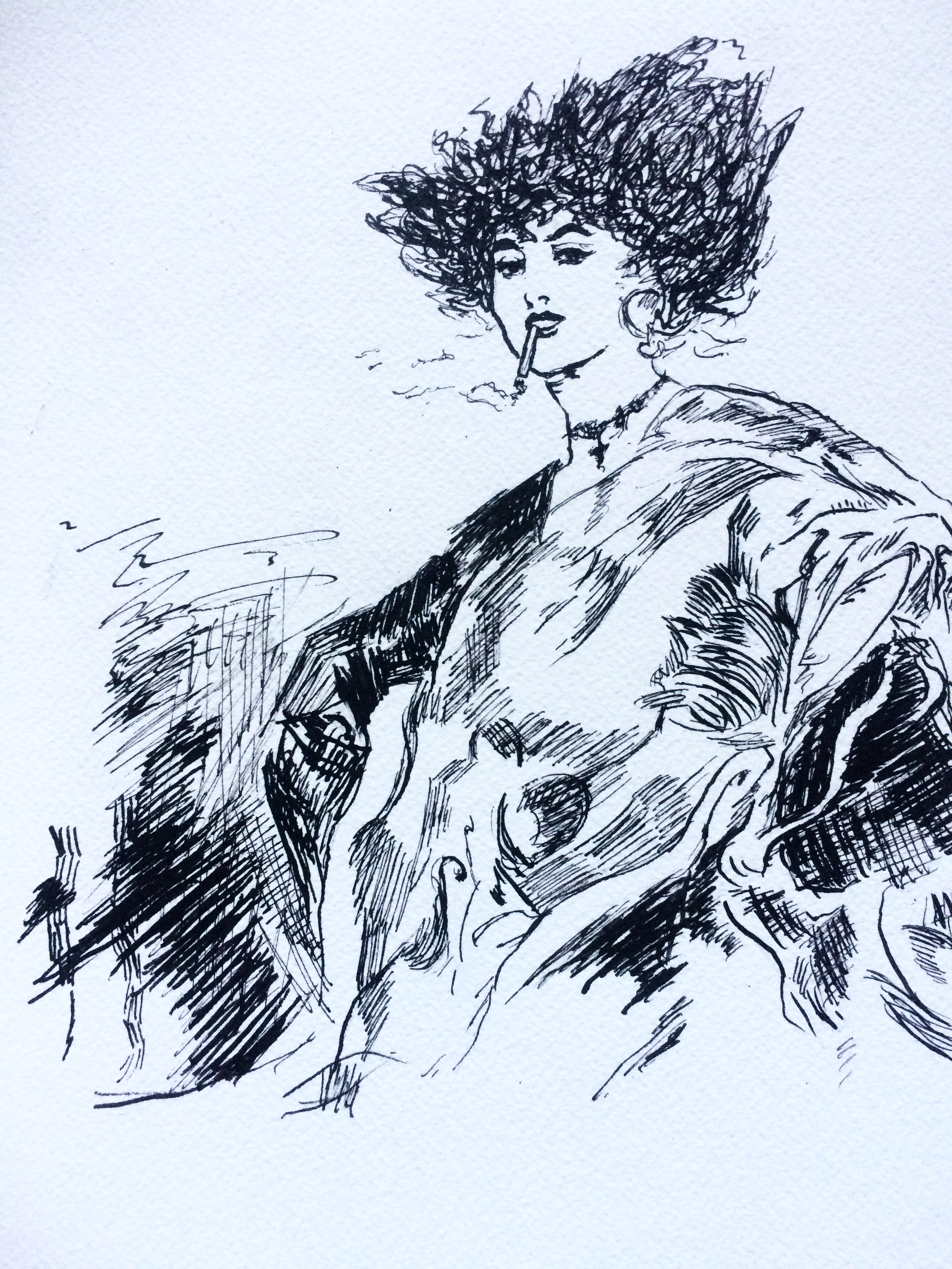 Copy work Pen and ink