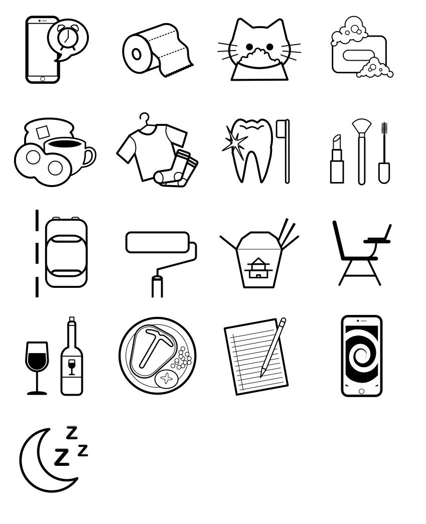 Original icons made with Adobe Illustrator
