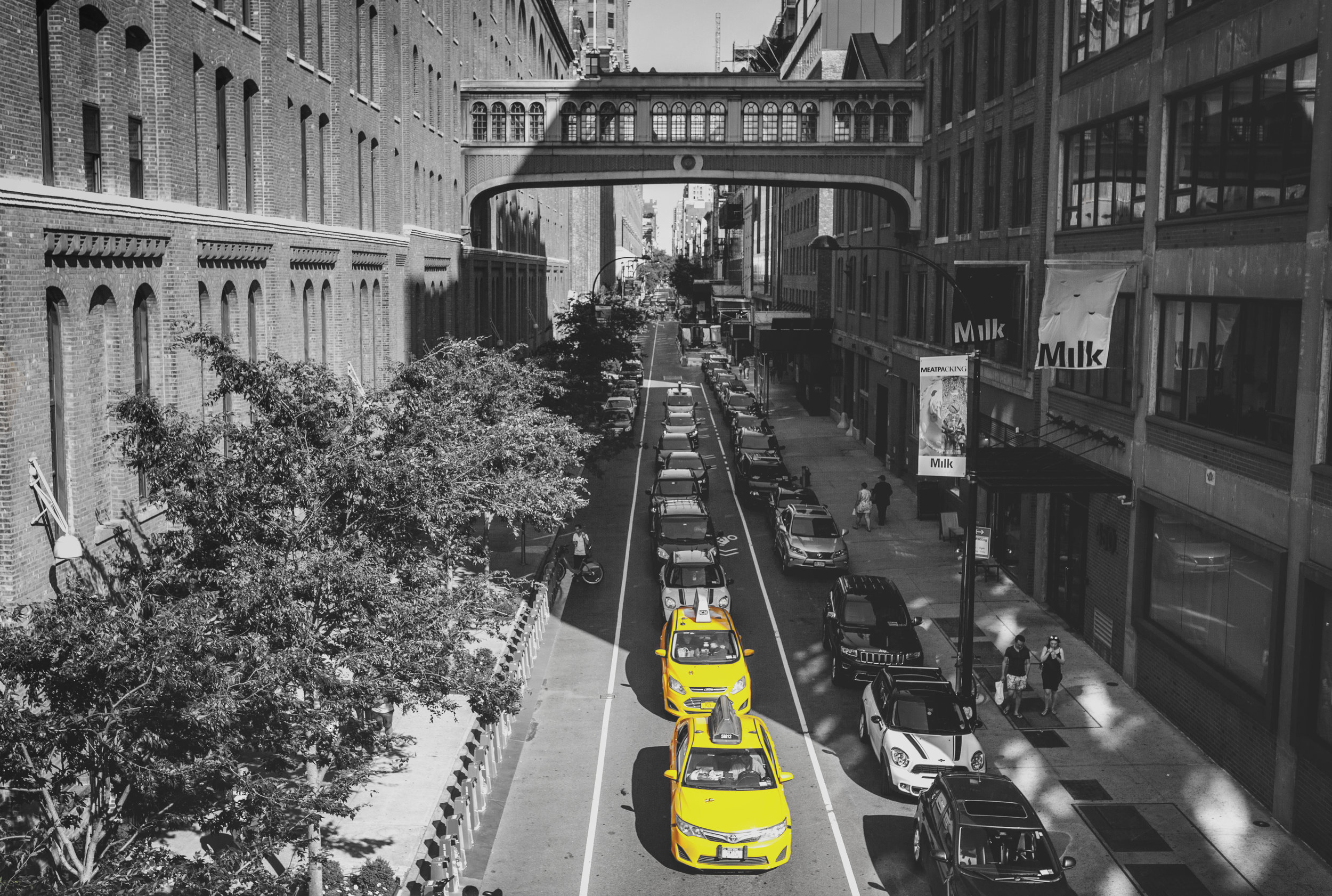 View from the High Line, New York City